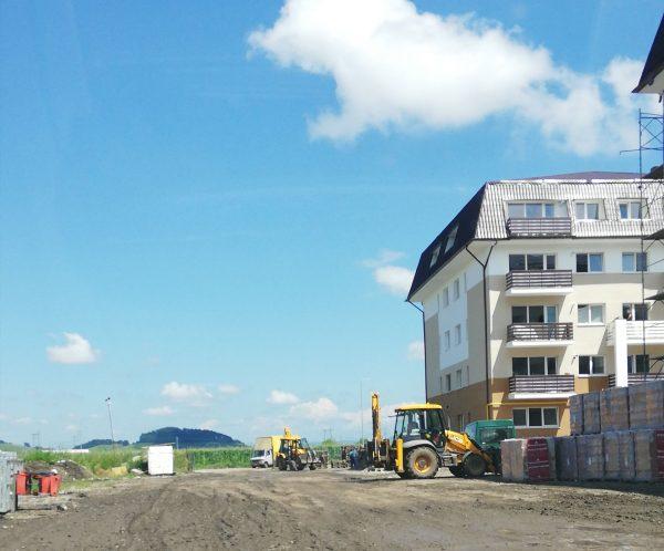 santier constructii rezidentiale masinist